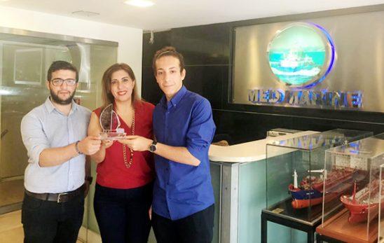 Med Marine Holding'e Denizci Öğrencilerden Teşekkür Plaketi